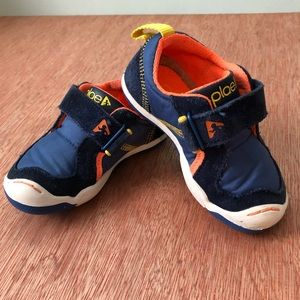 Plae TY Toddler Shoes - Navy & Orange